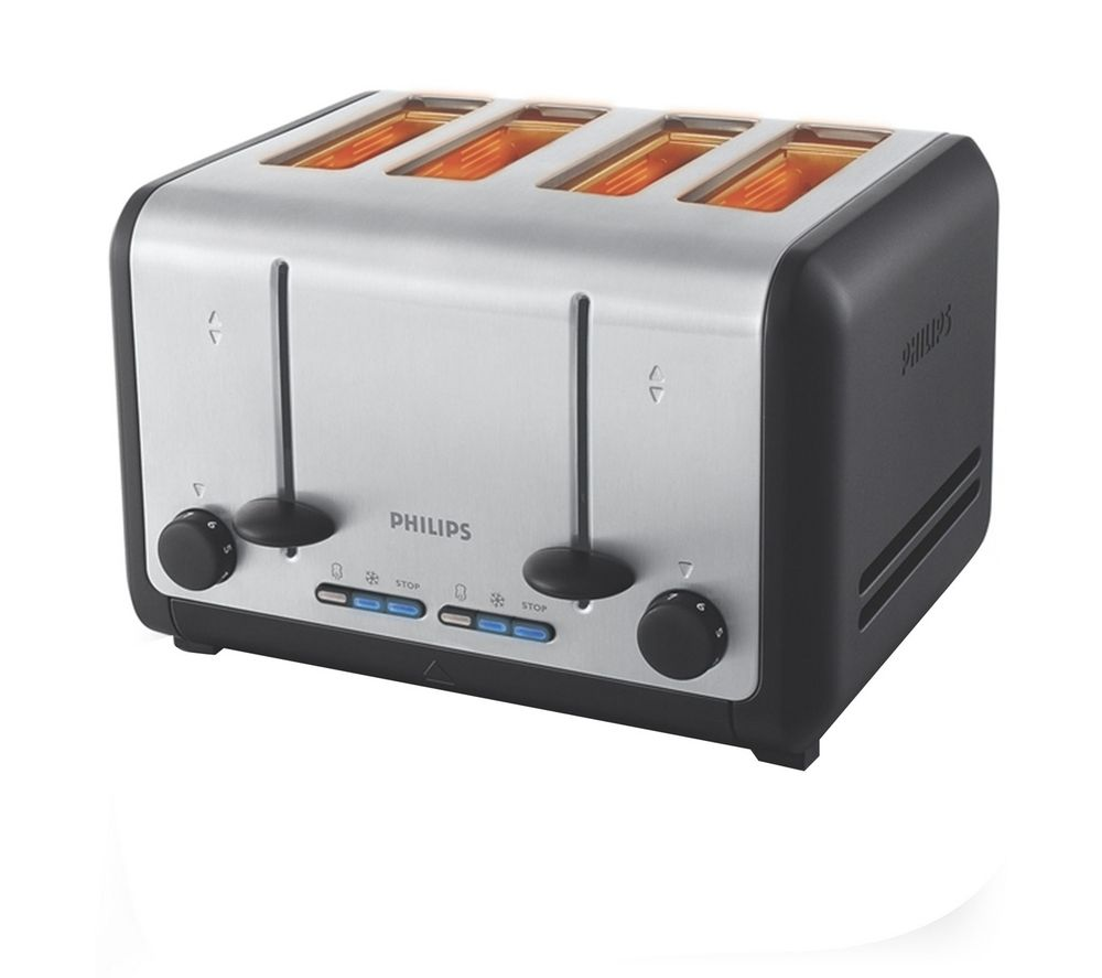 4 Slice Toaster ~ Buy philips hd slice toaster silver black