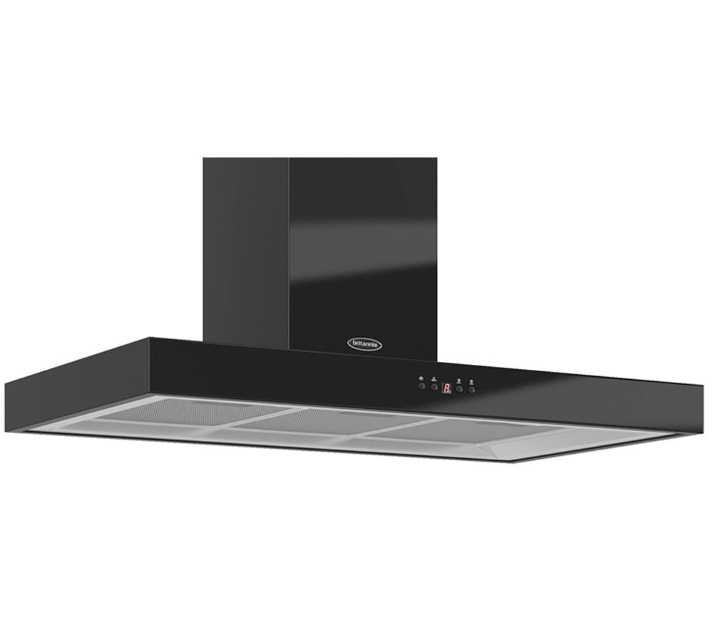 BRITANNIA Arioso TPK7088A90K Chimney Cooker Hood - Gloss Black