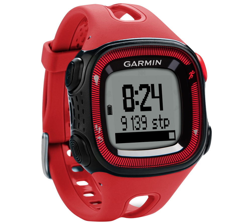 Garmin Forerunner 15 GPS Running Watch - Red & Black, Red