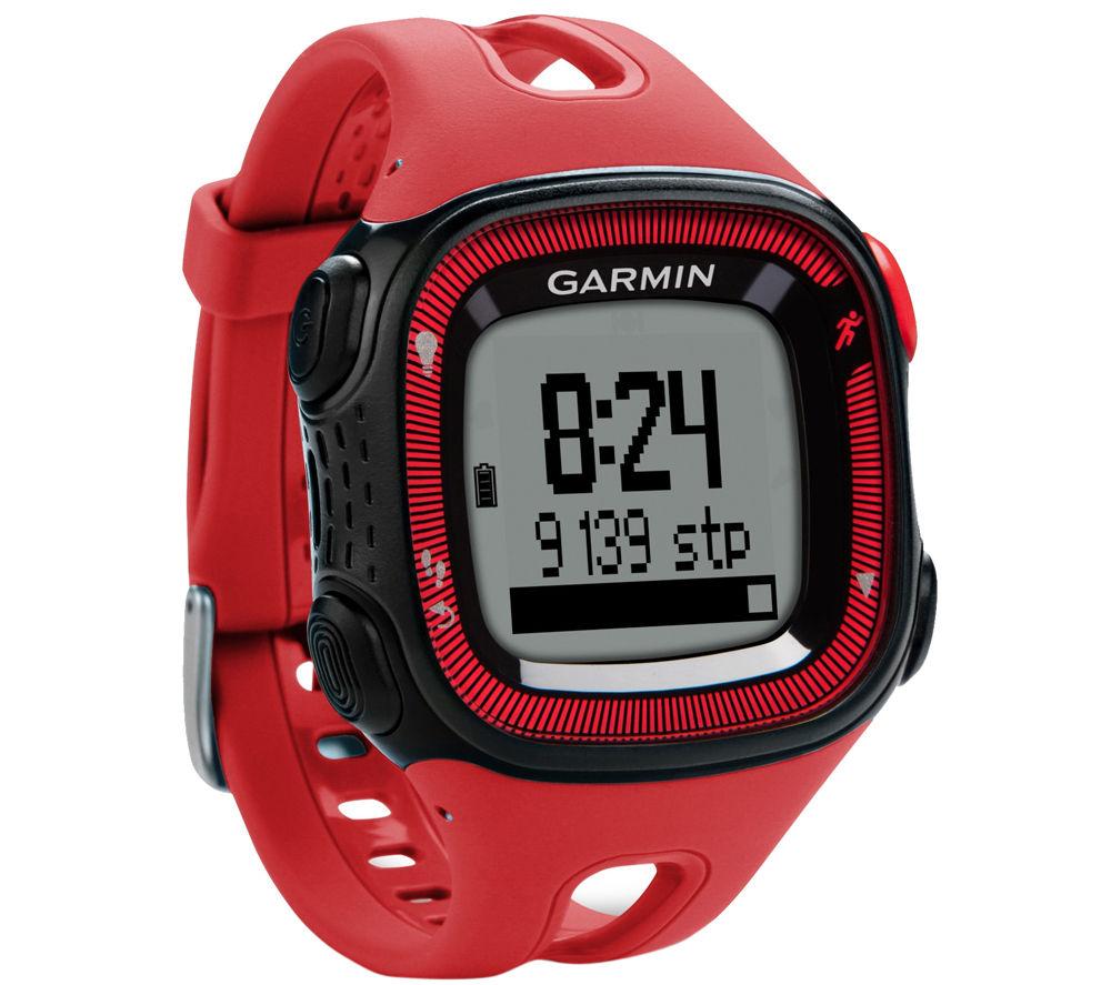 Garmin Forerunner 15 GPS Running Watch - Red & Black, Red
