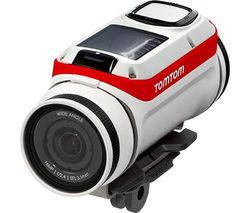 TOMTOM Premium Pack Bandit Action Camcorder - White & Red