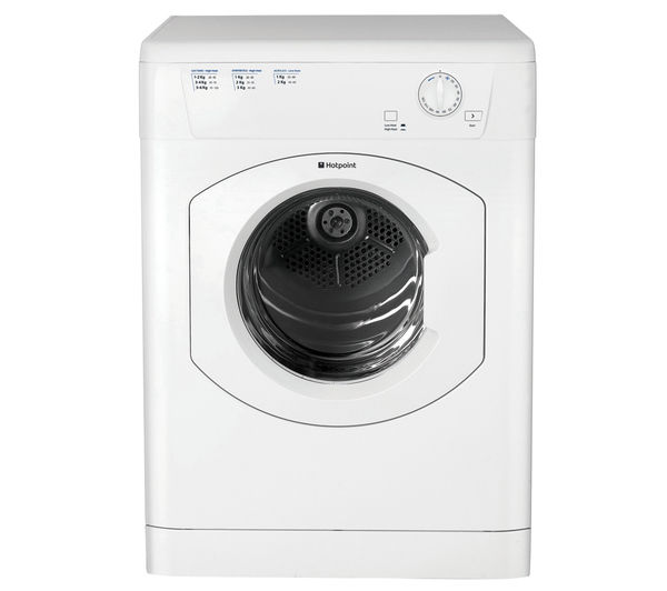 HOTPOINT  FETV60CP Vented Tumble Dryer - White +  SISML21011P Slimline Dishwasher - White