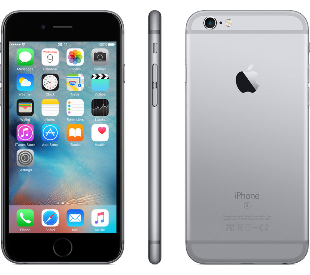 buy apple iphone 6s 16 gb space grey free delivery currys. Black Bedroom Furniture Sets. Home Design Ideas