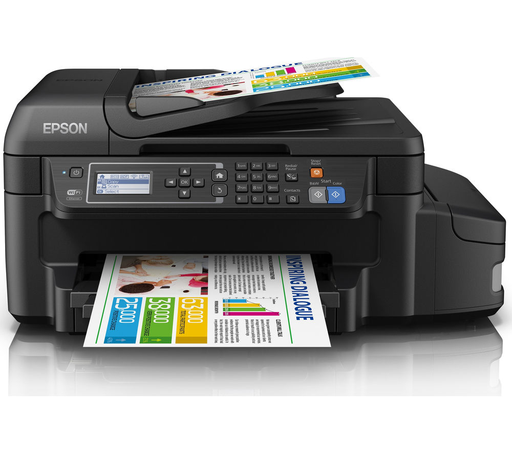Image of Epson Eco Tank ET-4550 All-in-One Wireless Inkjet Printer with Fax