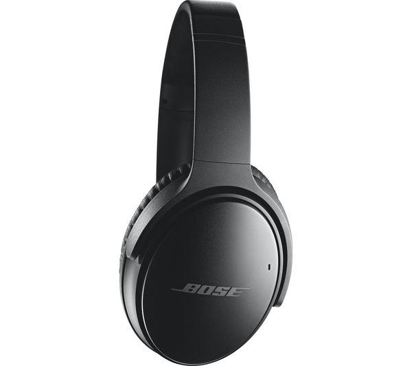Image of BOSE QuietComfort 35 Wireless Bluetooth Noise-Cancelling Headphones - Black