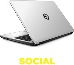 "HP 15-ba078sa 15.6"" Laptop - White Silver"