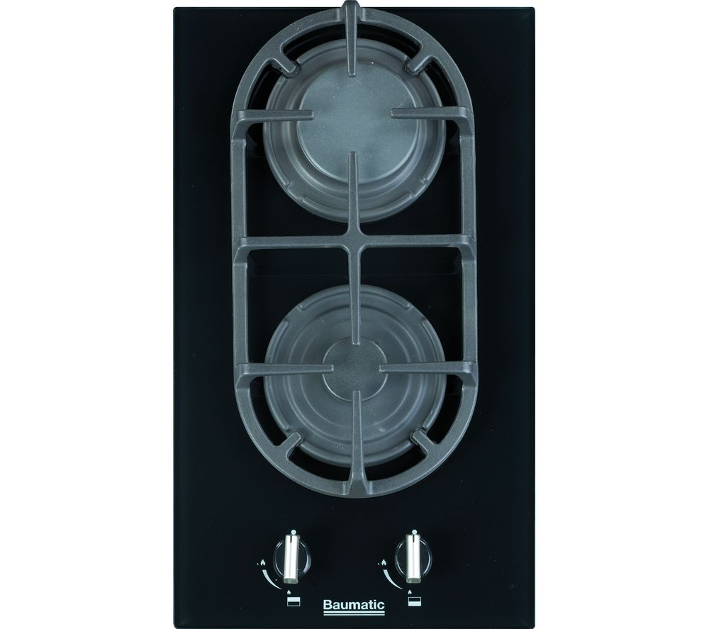 BAUMATIC  BGG32 Gas Hob  Black Glass Black
