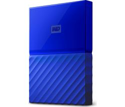 WD My Passport Portable Hard Drive - 1 TB, Blue
