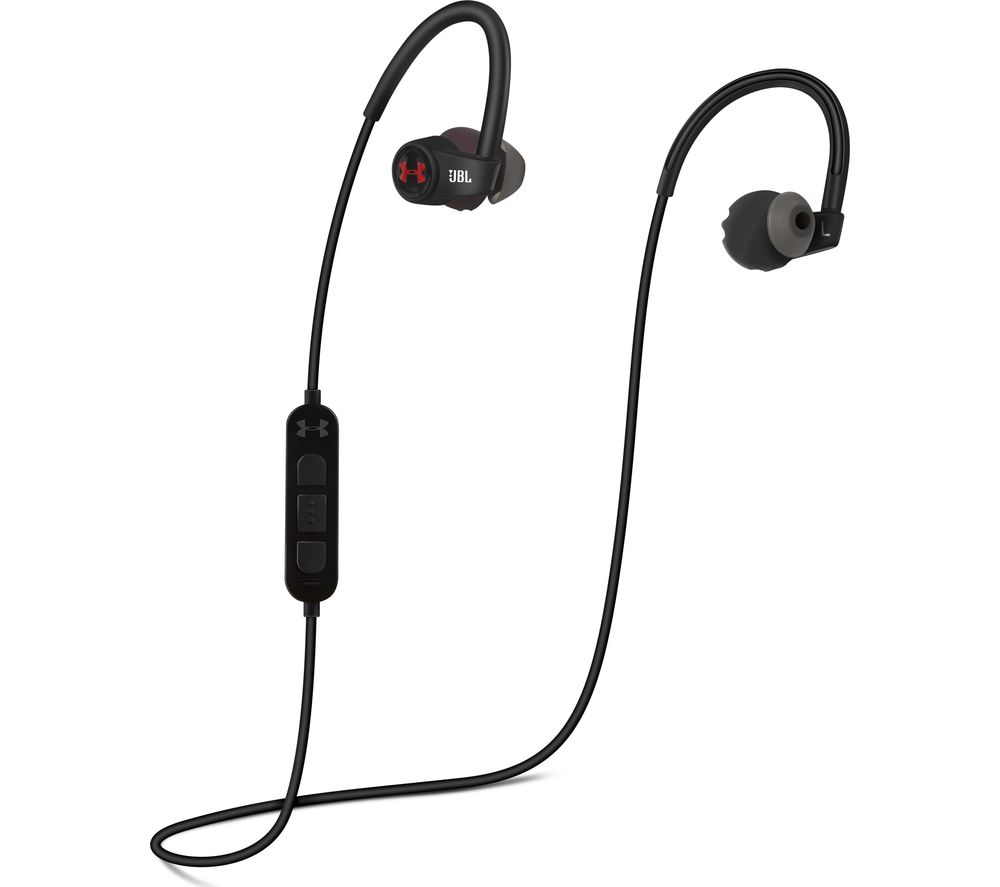 JBL Under Armour Wireless Bluetooth Headphones - Black & Red