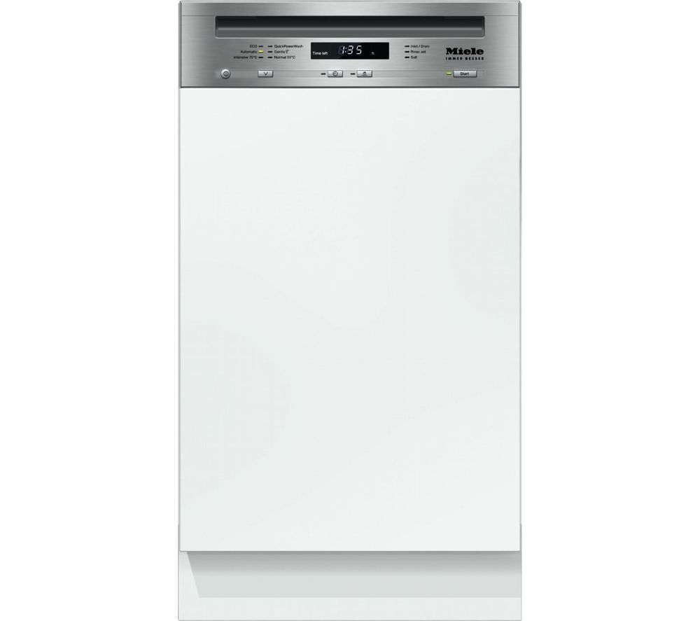 Uncategorized Slimline Kitchen Appliances buy cheap slimline kitchen appliance compare products prices for miele g4720sci clst semiintegrated dishwasher clean steel