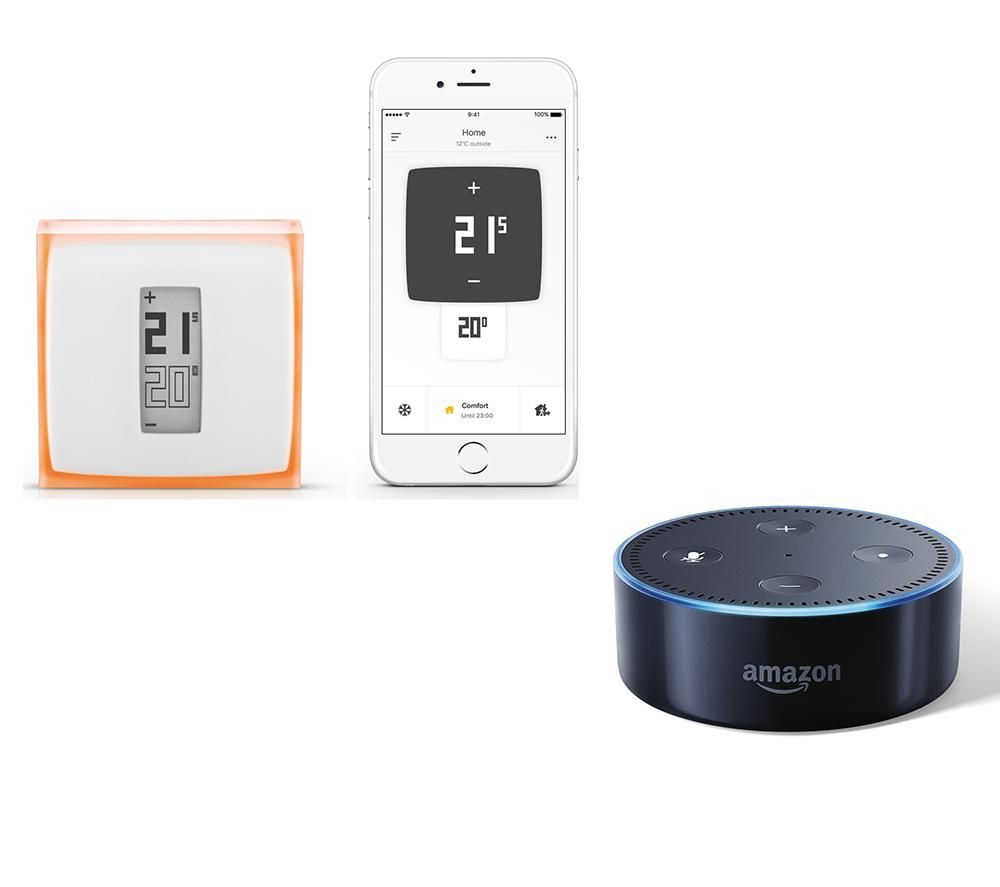 Image of AMAZON AMAZON Echo Dot with Netatmo Thermostat Bundle