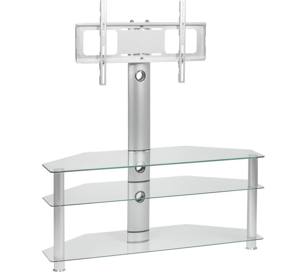 mmt rio scc61 tv stand with bracket clear glass deals pc world. Black Bedroom Furniture Sets. Home Design Ideas