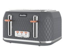 BREVILLE Curve VTT912 4-Slice Toaster - Granite Grey