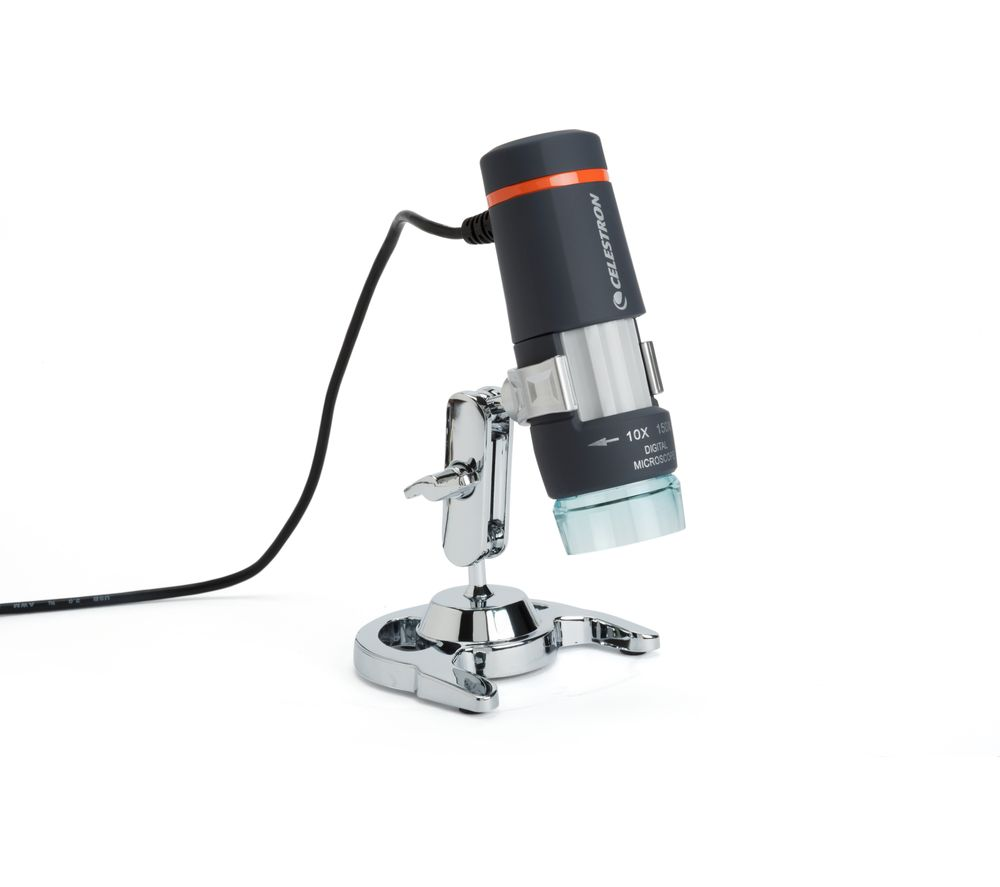Image of Celestron 44302-B-CGL Deluxe Handheld Digital Microscope - Black, Black
