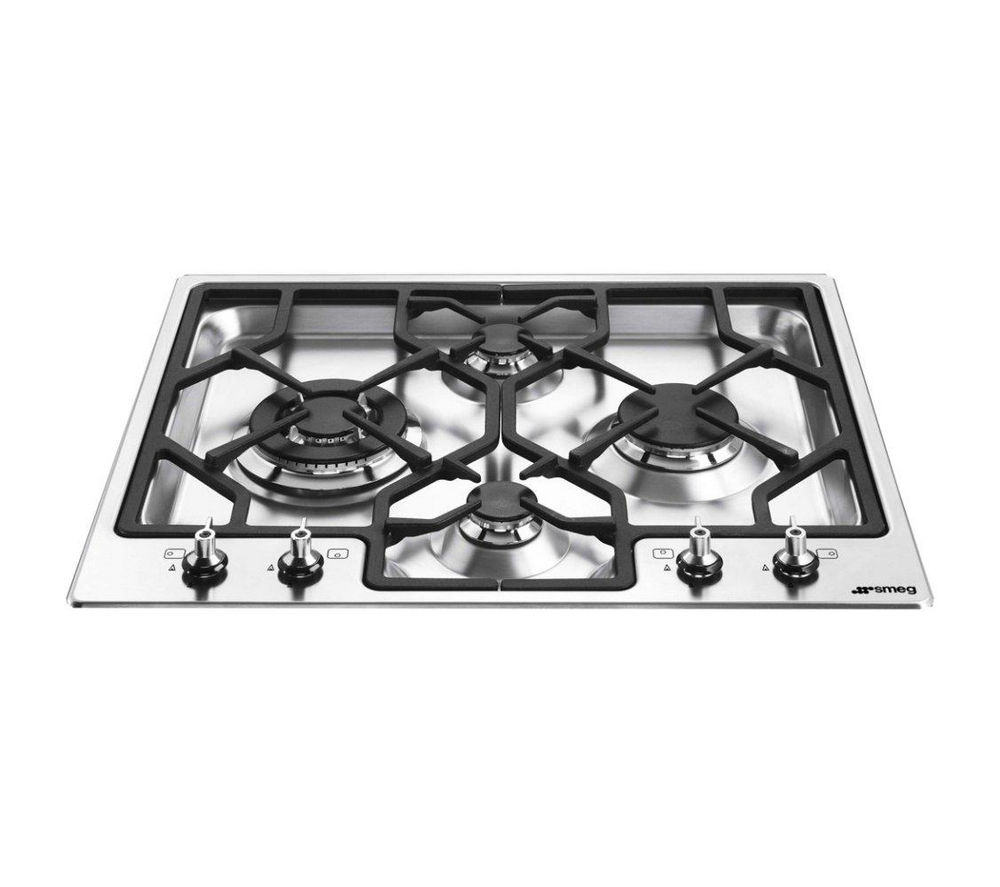 SMEG Classic PGF64-4 Gas Hob - Stainless Steel
