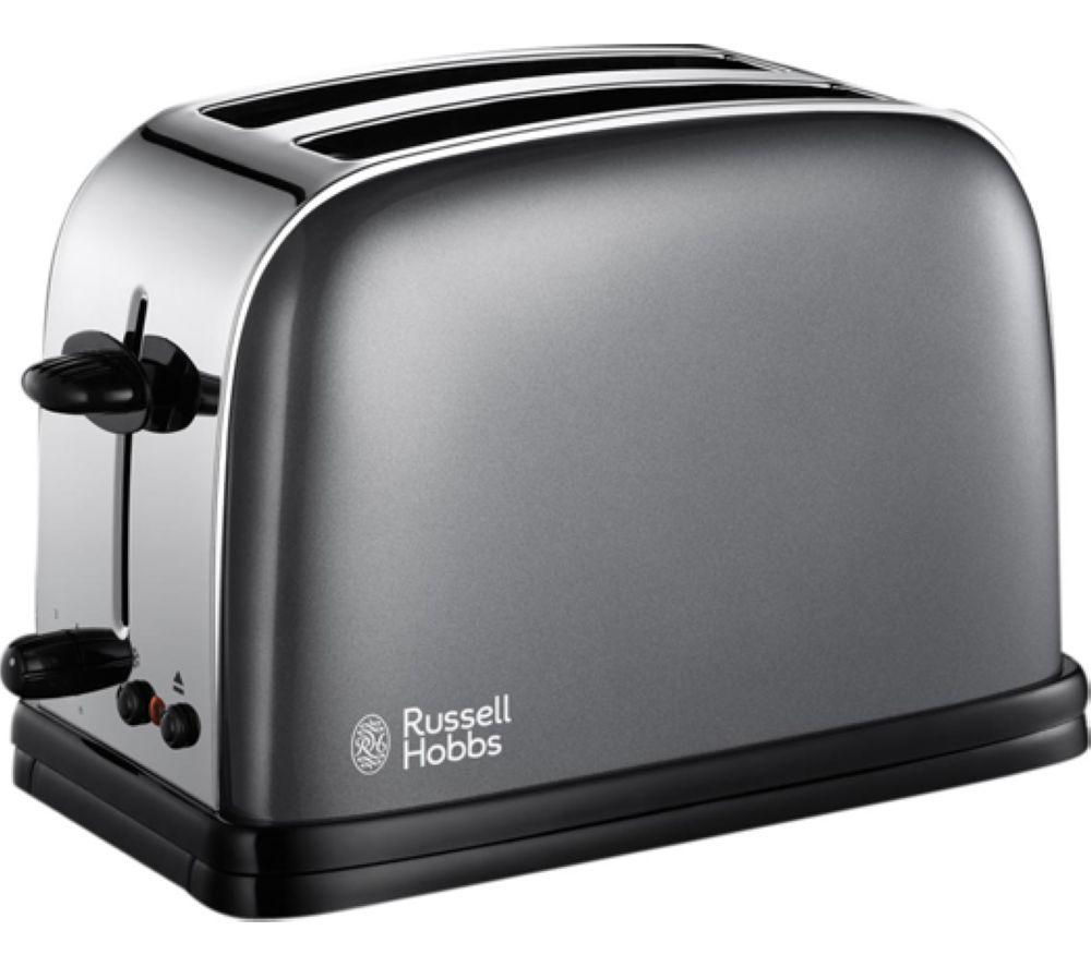 buy russell hobbs colours 18954 2 slice toaster grey colours 18944 jug kettle grey free. Black Bedroom Furniture Sets. Home Design Ideas