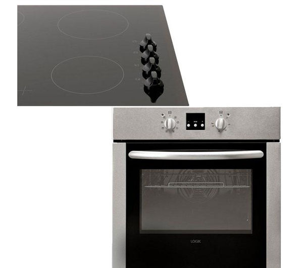 buy logik lcpckx13 built in electric oven ceramic hob. Black Bedroom Furniture Sets. Home Design Ideas