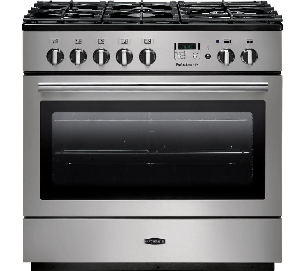 RANGEMASTER  Professional FX 90 Dual Fuel Range Cooker  Stainless Steel & Chrome Stainless Steel