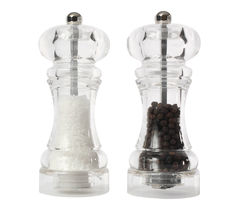 T&G WOODWARE Capstan Salt & Pepper Mill Set - Clear Acrylic