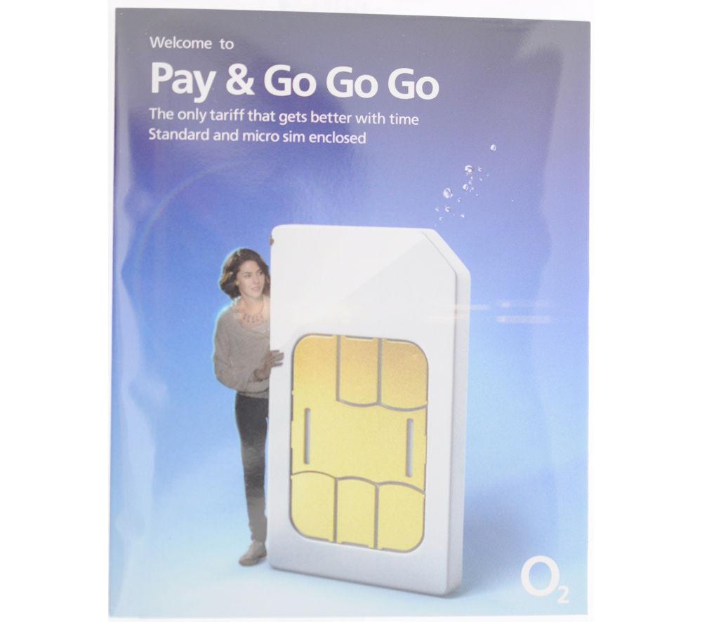 O2 Pay As You Go SIM Card