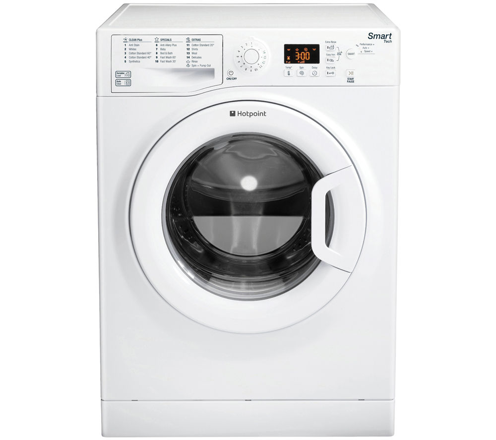 HOTPOINT  WMFUG1063P SMART Washing Machine - White +  Futura TCFS93BGP Condenser Tumble Dryer - White