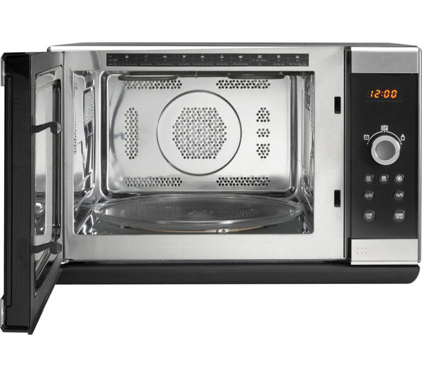 Buy hotpoint mwh2824xuk combination microwave stainless - Stainless steel microwave interior ...