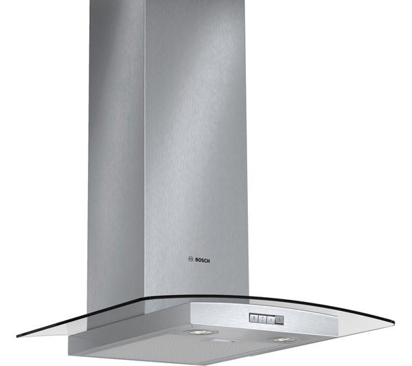 BOSCH Classixx DWA064W51B Chimney Cooker Hood - Stainless Steel + PKE645D17 Ceramic Hob – Black