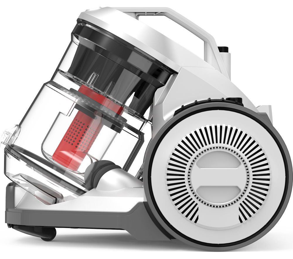 VAX Air Compact C87-AM-LE Cylinder Bagless Vacuum Cleaner - Charcoal, White & Red