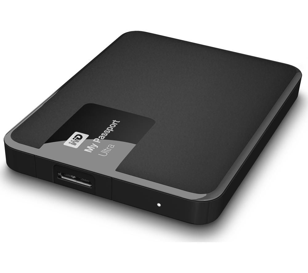 WD My Passport Ultra Exclusive Portable Hard Drive - 1 TB, Black