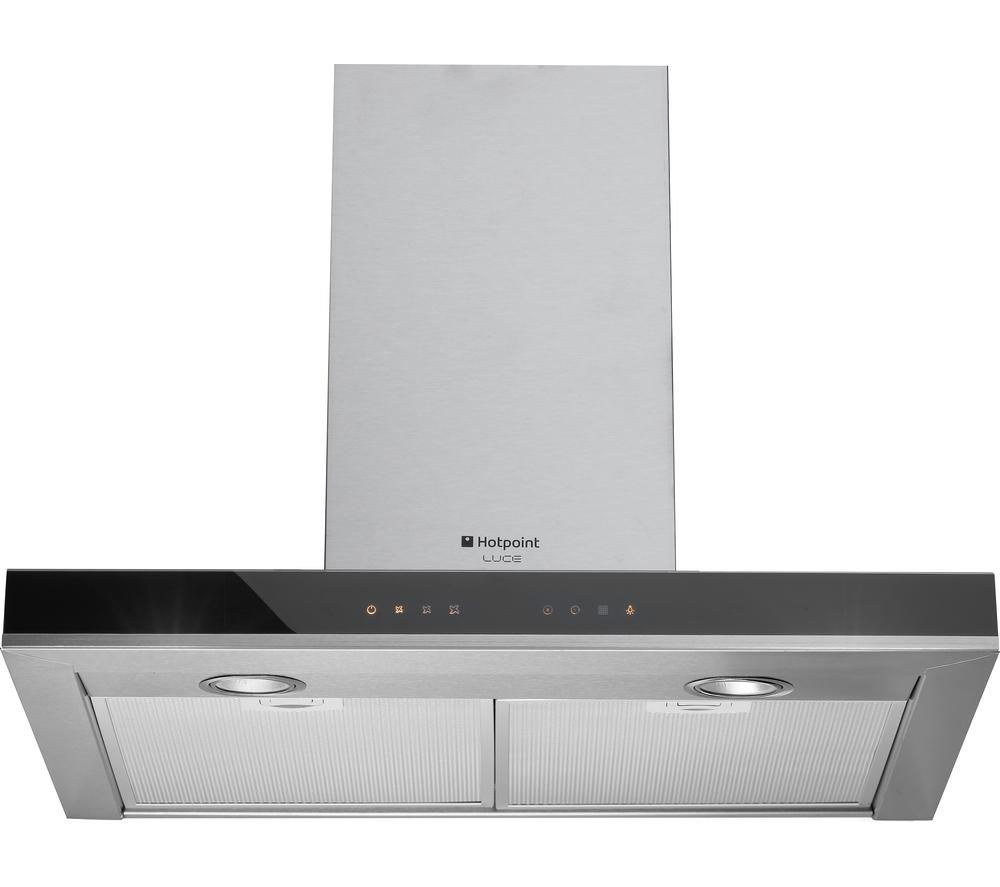 Image of Hotpoint Luce HXB6.8LTI Chimney Cooker Hood - Stainless Steel, Stainless Steel