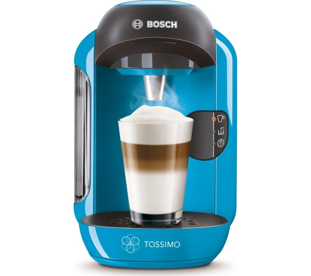 TASSIMO by Bosch Vivy II TAS1255GB Hot Drinks Machine - Blue + Costa Cappuccino T Discs - Pack of 8
