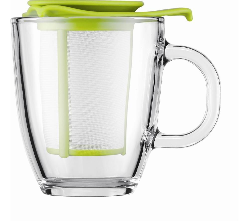 BODUM Yo Yo Mug & Tea Strainer Set - Lime