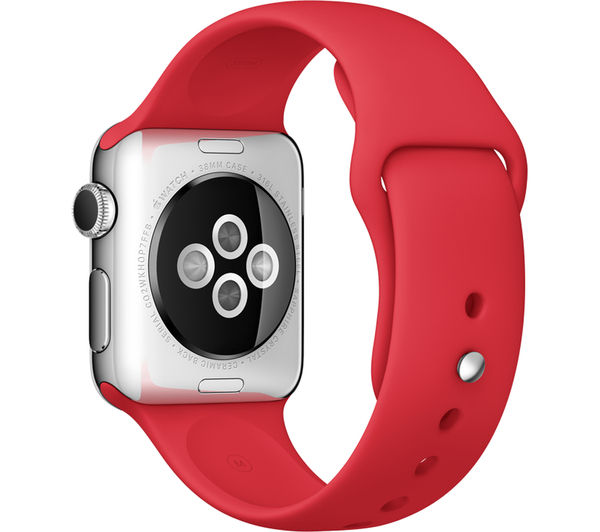 APPLE Watch 38 mm with Sports Band - Stainless Steel & Red (September 2015)