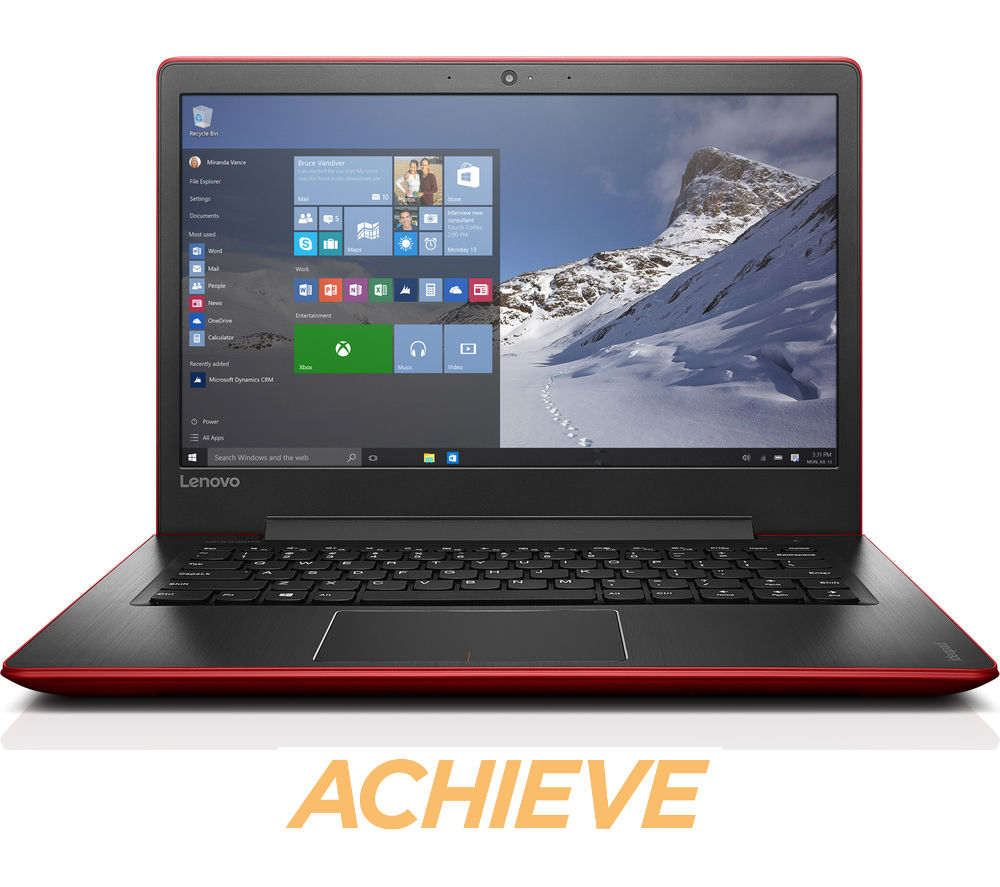 "LENOVO IdeaPad 510S 14"" Laptop - Red + Office 365 Home Premium"