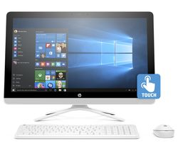 "HP 24-g085na 24"" Touchscreen All-in-One PC - White"