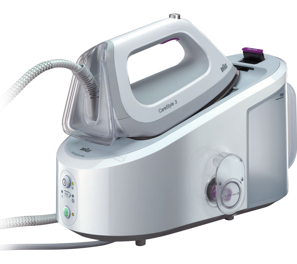 Image of BRAUN CareStyle 3 IS3044 Steam Generator Iron - White, Braun