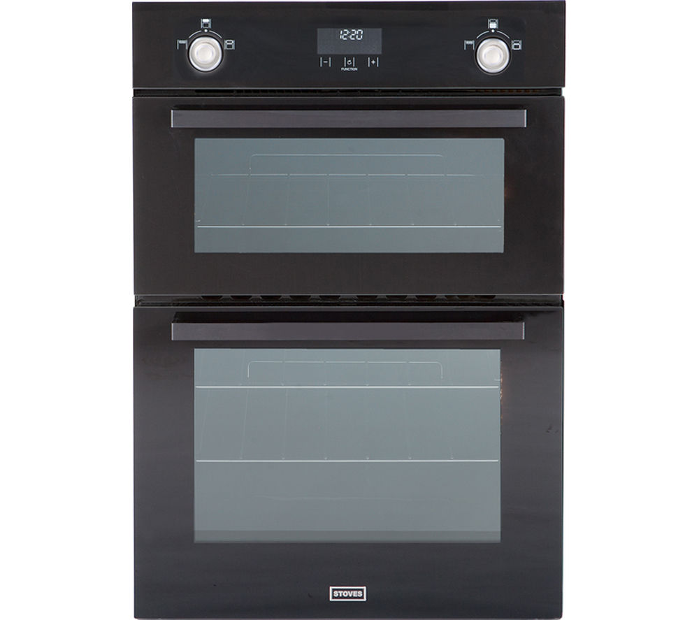 STOVES  Professional SGB900MFSe Gas Double Oven  Black Black