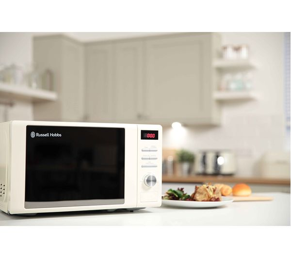 Buy RUSSELL HOBBS RHM2064C Compact Solo Microwave - Cream Free ...