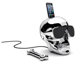 JARRE Aeroskull HD+ Wireless Speaker - Chrome Silver
