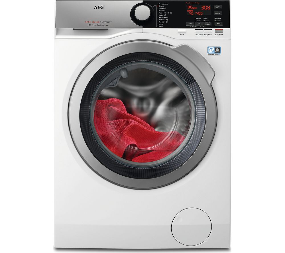 AEG ÖKOMix 8000 L8FEE845R 8 kg 1400 Spin Washing Machine  White White