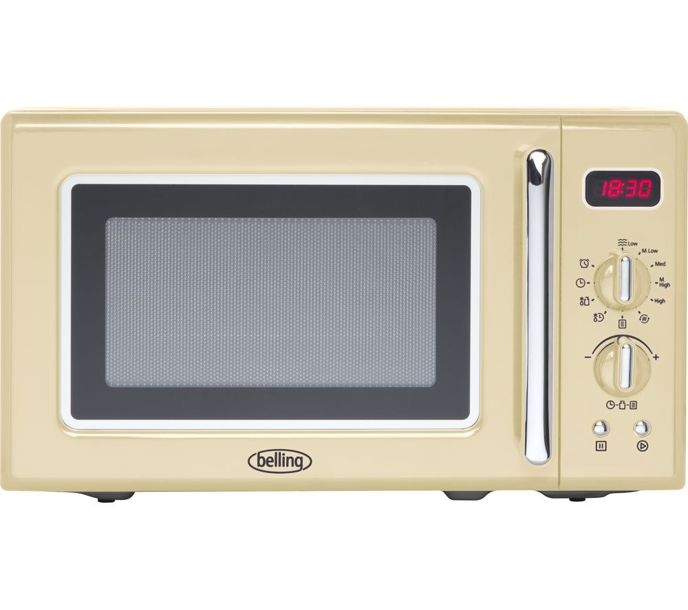 Image of BELLING Retro FMR2080S Solo Microwave - Cream, Cream