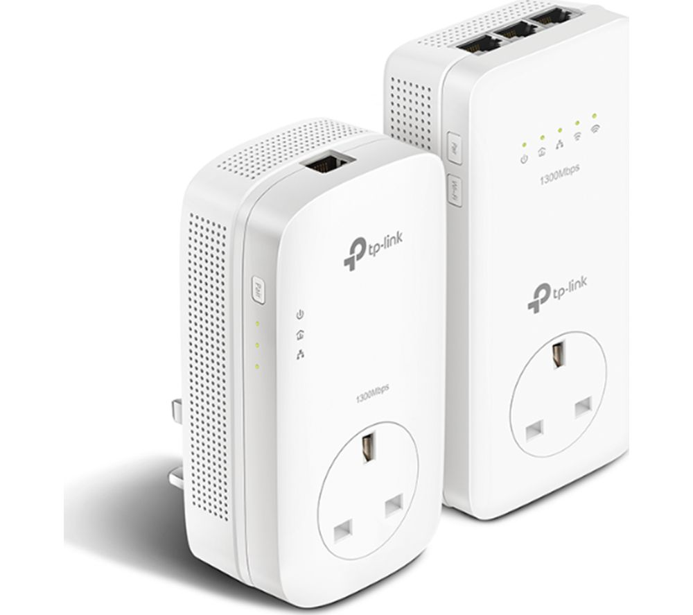 TP-LINK TL-WPA8630P V2 Wireless Powerline Adapter Kit - AV1300, Twin Pack