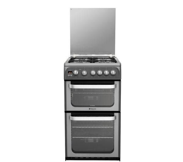 HOTPOINT HUG52G Gas Cooker - Graphite