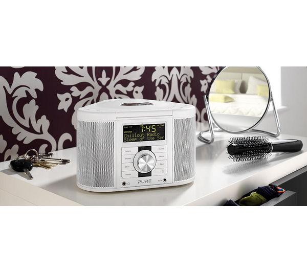 pure chronos cd series ii dab clock radio white deals pc world. Black Bedroom Furniture Sets. Home Design Ideas