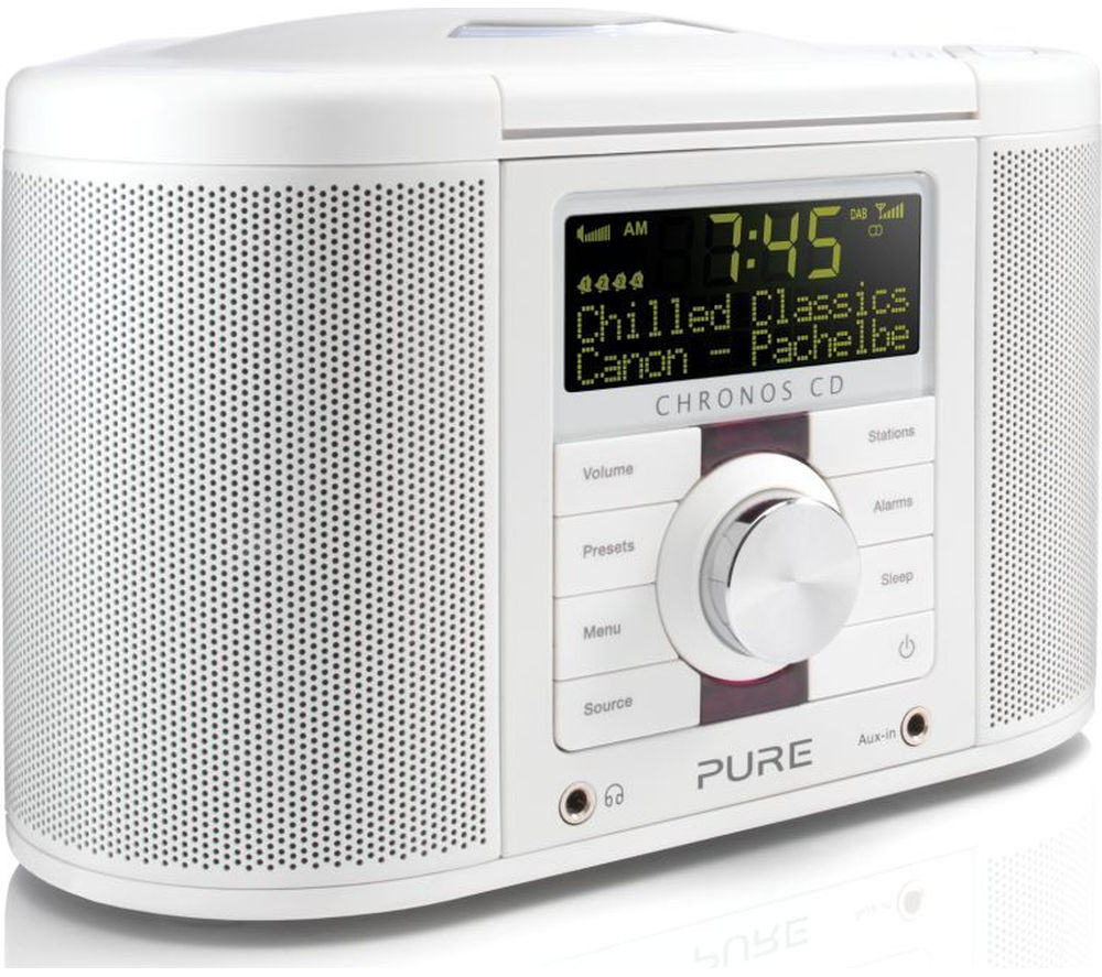 Click to view more of PURE  Chronos CD Series II DAB Clock Radio - White, White