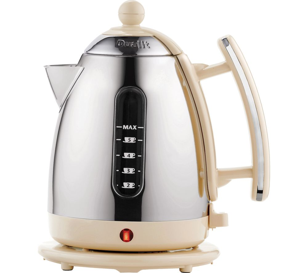 DUALIT  72413 Jug Kettle  Cream & Stainless Steel Stainless Steel