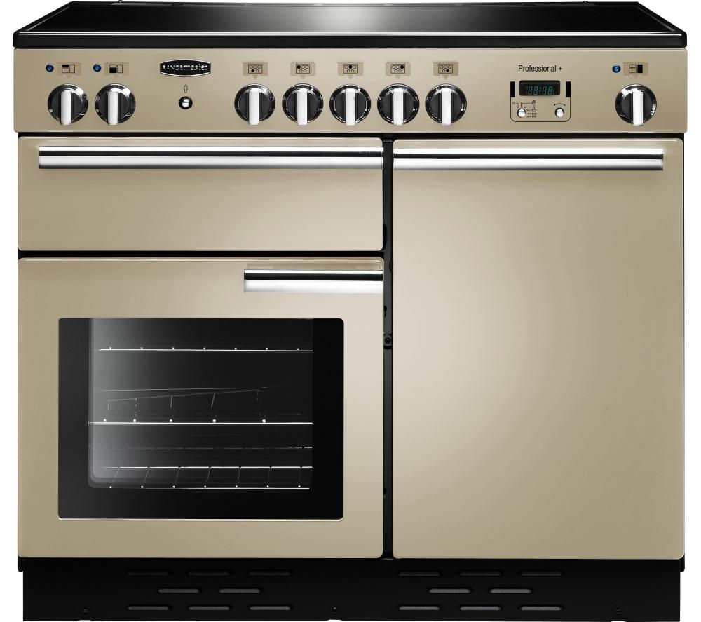RANGEMASTER Professional+ 100 Electric Induction Range Cooker - Cream & Chrome