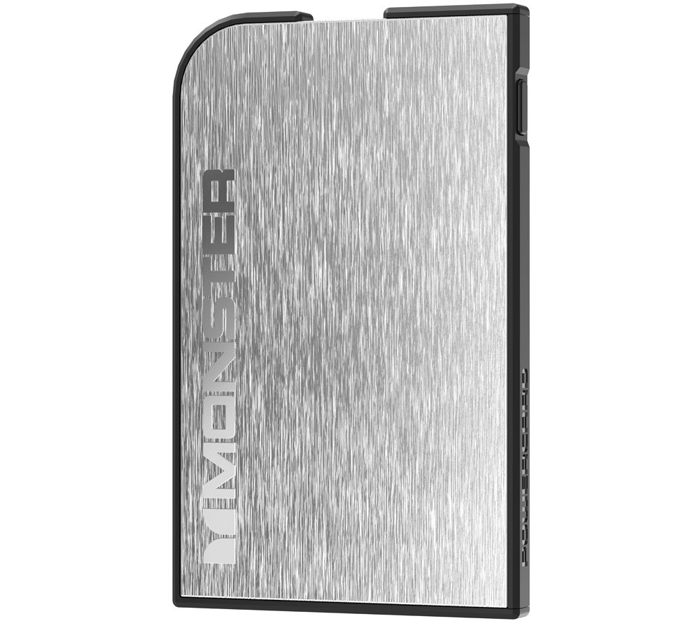 MONSTER Mobile PowerCard Rechargeable Portable Battery - Silver