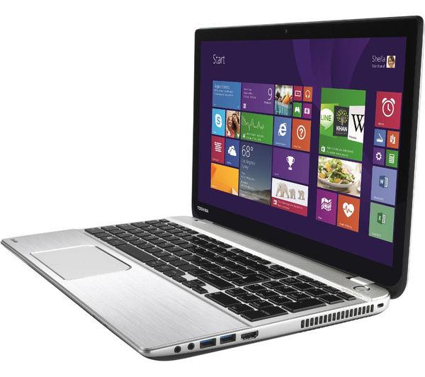 """TOSHIBA Satellite P50t-B-10K 15.6"""" 4K Touchscreen Laptop - Silver"""