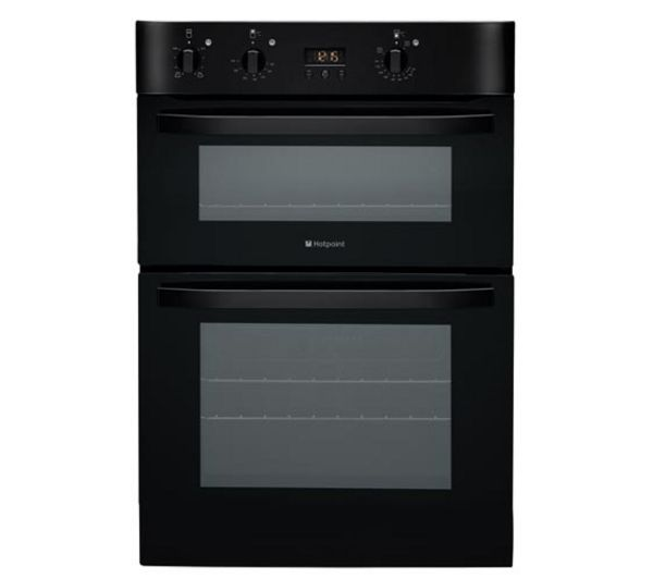 HOTPOINT DH53K Electric Double Oven - Black